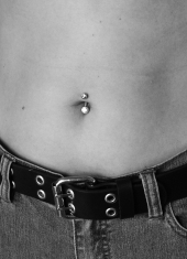 (not my actual belly or button or ring)
