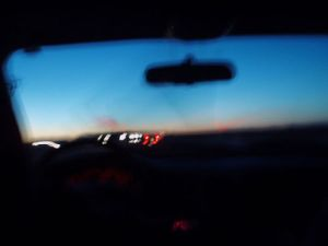 windshield nighttime